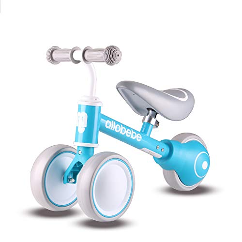 allobebe Baby Balance Bike, Toddler Bikes Bicycle for 12-36 Months Perfect boy 1 Year Old Gifts Toys to Scoot Around with Adjustable Seat Smooth Silent 3 Wheels