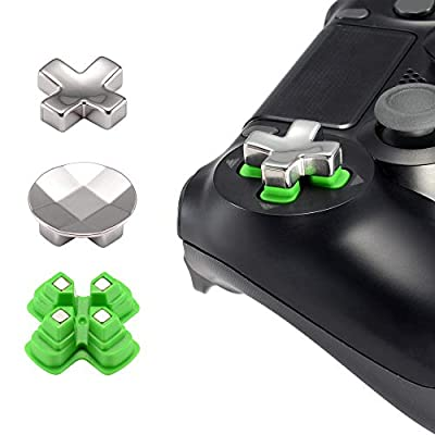 eXtremeRate Magnetic Metal Mod Button, Adjustable Dpads Replacement Parts for Playstation 4, PS4 Slim,PS4 Pro Controllers (3 in 1)