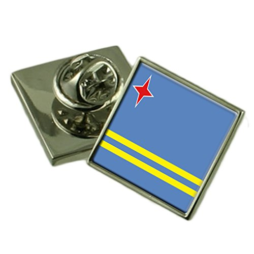 L'épinglette du drapeau d'Aruba 18mm Badge Sélectionner Pochette Cadeau