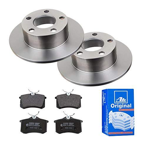 2 Bremsscheiben Ø245 Voll + Bremsbeläge ATE Hinten P-A-02-00327 Bremsanlage