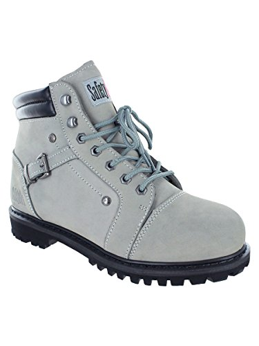 Safety Girl GS007-GRY-7M Safety Girl Fusion Work Boot - Gray Steel Toe 7M, English, Capacity, Volume, Leather, 7M, Gray ()