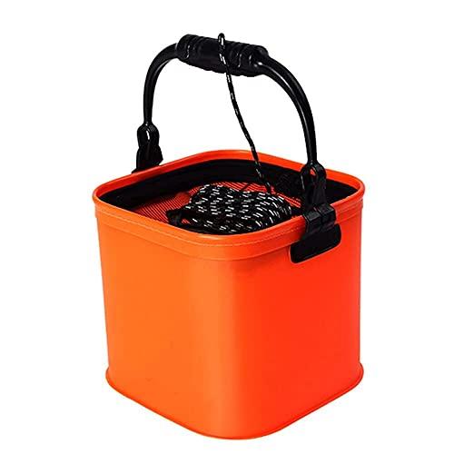 WANBAOAO portátil Plegable EVA Cubo de Agua con cinturón de Cuerda Bolso...