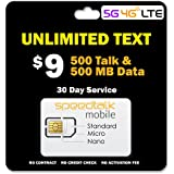 GSM SIM Unlimited Text + 500 Minutes & 500 MB 5G