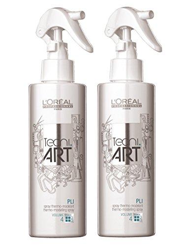 Lot de 2 sprays thermiques Pli Tecni Art Loreal Professionnel Volume 190 ml = 380 ml