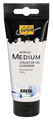 Kreul 87101 - Solo Goya Acrylic Medium, 100 ml Tube, Strukturgel glänzend, cremige Spachtelmasse, trocknet transparent und glänzend, einfärbbar