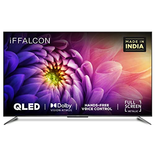 iFFALCON 139 cm (55 inches) 4K Ultra HD Certified Android Smart QLED TV 55H71 (Metallic Black) (2021 Model) | Dolby Vision & Atmos