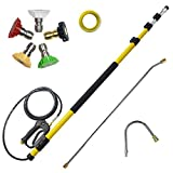 AgiiMan Telescoping Spray Wand for Pressure Washer - Power Washer Extension Wand, Gutter Cleaning Tools, Telescopic Lance 18FT, Window Cleaner Kit, Upgraded 4000 psi