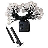 Cadena de luces solares de 8 modos, luces de cadena de luces LED,...