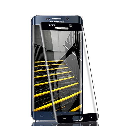 RIIMUHIR-Cristal Templado para Samsung Galaxy S6 Edge, Protector de Pantalla Dureza 9H, Sin Burbujas, Anti-Huellas Digitales, Ultra Claridad (2 Pack)