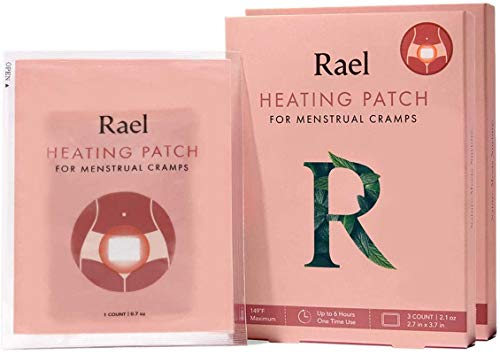 Rael Natural Herbal Heating Patch - PMS Relief Natural Heating Herb Therapy Patches (2 Pack/ 6 Count)