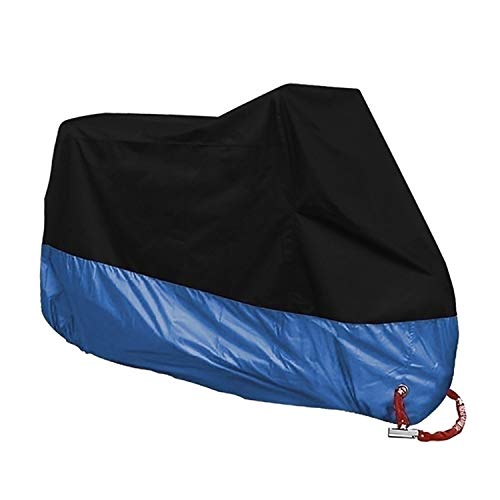 Small Lake Motorcycle Raincoat Universal Outdoor Protector Bicycle Dustproof Motorcycle Rain Cover for Waterproof-Blue-4XL-2301-2400mm