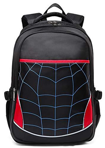 Kids School Bags for Boys Elementary Primary Durable Kindergarten Bookbags (Black)
