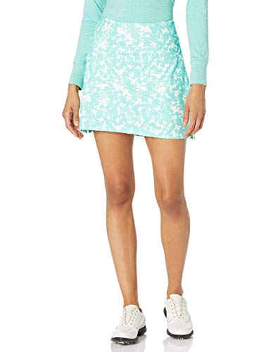 Adidas Ultimate365 Primegreen - Falda de Golf para Mujer, Falda de Golf Ultimate365 Primegreen para Mujer, Blanco/Verde, Large