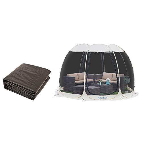 Alvantor Screen House Room Camping Tent Outdoor Canopy Dining Gazebo Pop Up Sun Shade Shelter 8 Mesh Walls Not Waterproof Beige 12'x12' Patent