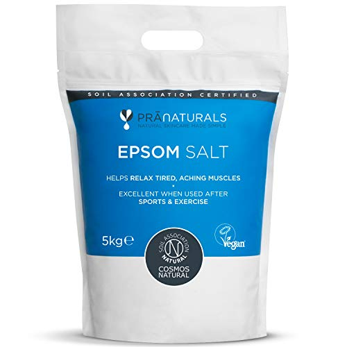 Sali di Epsom PraNaturals 5kg, Sali da bagno naturali e ricchi di minerali,...