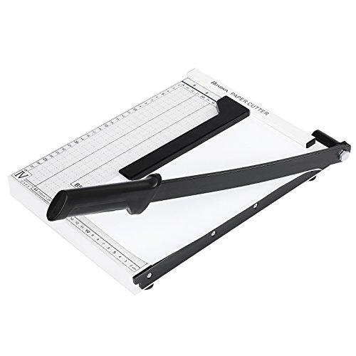 Homdox Taglierina per carta A4 multi funzione taglierina cutter professionale ghigliottina carta fogli A4 lama precisione paper cutters taglierina a Leva