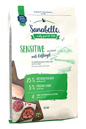 Sanabelle Sensitive mit Geflügel | Katzentrockenfutter für ernährungssensible Katzen, 1er Pack (1 x 10000 g)