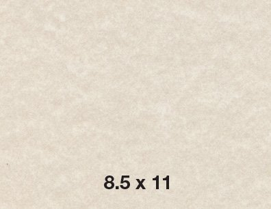 Natural Cream Parchment Paper Text 24lb/60lb, Size 8.5 X 11 Inches, 50 Sheets Per Pack.