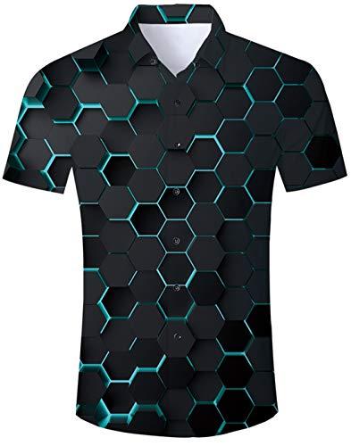 Idgreatim Idgreatim Männerager Jungen Hemden Shirt Kurzarm Vintage Stil Herren Hemden Shirts für Männer