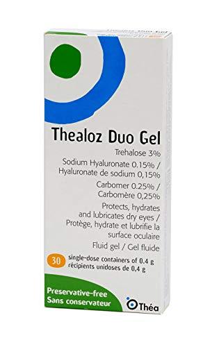 Thealoz Duo Gel Befeuchtung für trockene Augen, Einzeldosis von 0,4 g, 90 Stück (3 x 30 Stück)