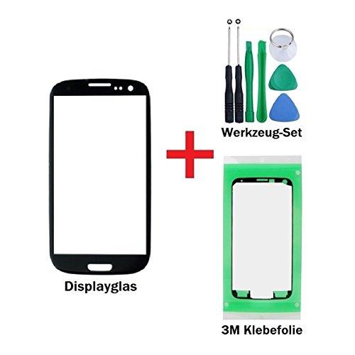iTech Germany Vetro display kit di sostituzione per Samsung Galaxy S3 Mini in Nero - Touchscreen frontale per i8190 i8195 i8200 + '3M' adesivo pretagliato e set di strumenti