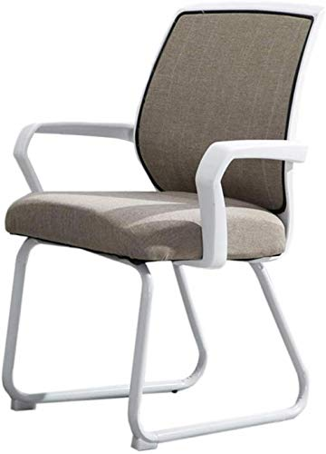 Silla de escritorio dormitorio silla de oficina silla de oficina silla de computadora taburete de casa oficina silla de oficina silla de entrenamiento para estudiantes de oficina (color caqui)