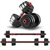 KirinSport Juego de mancuernas para mujer y hombre de 20 kg, ajustables, 2 unidades, cierre de seguridad y tubo de conexión de acero,Perfecto para casa,ejercicio doméstico,gimnacio