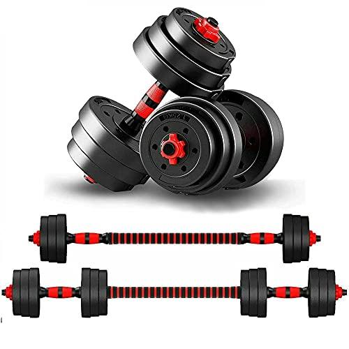KirinSport Juego de mancuernas para mujer y hombre de 20 kg, ajustables, 2 unidades, cierre de ...