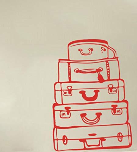 Axlgw grote reistassen muur sticker slaapkamer woonkamer bagage koffer reizen muur sticker baby kinderkamer Vinyl Decor grootte 45 cm hoog x 32 cm breed