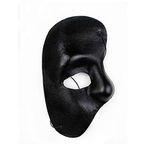 Máscara de la mascarada de Halloween PMWLKJ Máscara de media cara del fantasma de la ópera vintage Como se muestra E