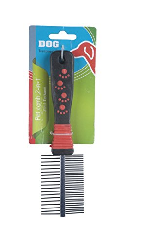 Dog - 38917 - Peigne pour Animal Domestique - 2 en 1 - 20 x 5 cm