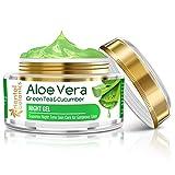 Oriental Botanics Aloe Vera, Green Tea & Cucumber Night Gel Cream, 50gm (With Pure Aloe Vera, No...