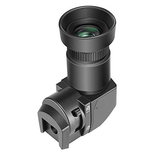 Neewer 1.25x-2.5X Rechtwinkelsucher mit 8 Befestigungsadaptern für Canon, Nikon, Sony, Pentax, Panasonic, Minolta, Leica und andere Digitale Spiegelreflexkameras