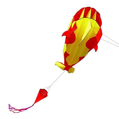 Lixada 3D Kinder Erwachsene Drachen Riesiger rahmenloser weicher Parafoil-Riesenwal-Drachen,einleiner flugdrachen Bester Groß Beach Drachen,120 * 215cm,mit Aufbewahrungstasche