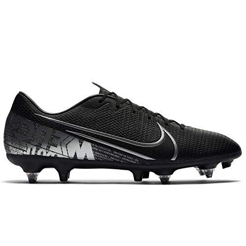 Nike Unisex-Erwachsene Vapor 13 Academy Sg-pro Ac Fußballschuhe, Mehrfarbig (Black/MTLC Cool Grey-Cool Grey 1), 40 EU