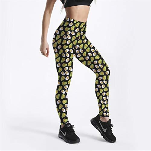 MGGR.O Süß Emoji Baby Birne gedruckt Stretch schlank Fitness Training Push up sexy Frauen Leggings Femme Bleistift Hose XXXL