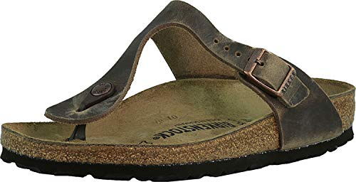 Birkenstock Gizeh Oiled Leather Tobacco Oiled Leather 38 (US Women's 7-7.5)...