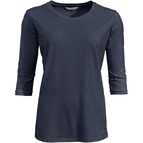 VAUDE Skomer - Camiseta de Manga Corta para Mujer, Unzutreffend, Evergreen, Skomer 3/4 - Camiseta, Mujer, Color Eclipse, tamaño 42