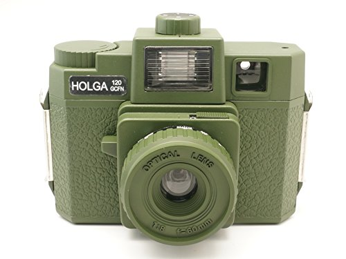 Sale!! Holga 120GCFN Military Green with Glass Lens and Colored Flash Film Camera