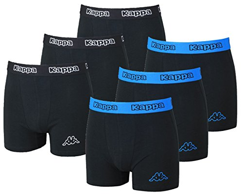 Kappa - 1 St, 3er-, 6er-, 9er, 12er- Set Boxershorts Herren Gr. S - XXL, Toledo (Small, 6X Schwarz/Blau)