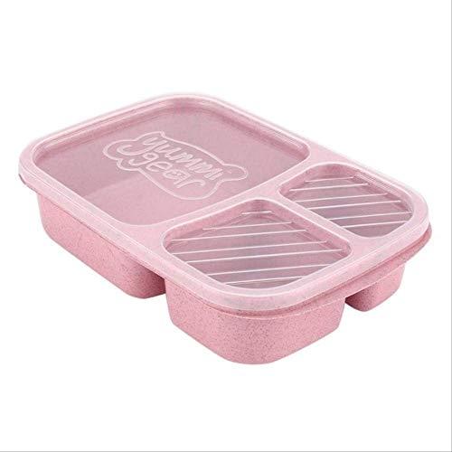 Boîte à Bento en paille de blé 14 grilles avec couvercle pour micro-ondes, boîte de rangement biodégradable, boîte de déjeuner, boîte à bento