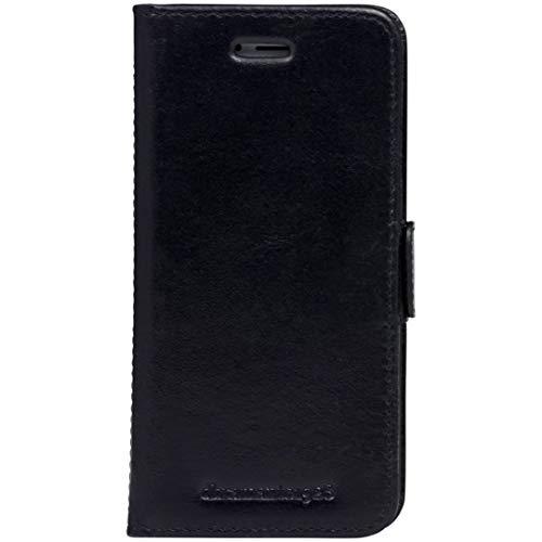 dbramante1928 - Copenhagen Hülle für iPhone SE/8/7/6 - Klapphülle aus robustem, hochwertigem Leder - Mit Kartenfach und Standfunktion - Schwarz
