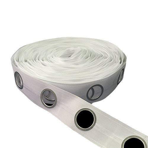 Trimming Shop Blanco Cortina Cinta Cabezal para 40mm Polo para Cortinas Y Cortinas - Blanco, Metre