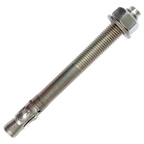 PRIOstahl® Ankerbolzen aus rostfreiem Edelstahl V2A Ankerschraube Schwerlastanker Bolzendübel (M8 x 115 mm, 10 Stück)