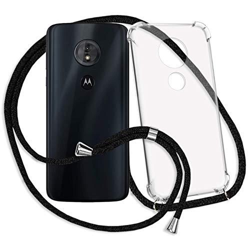mtb more energy® Handykette kompatibel mit Motorola Moto G6 Play (5.7'') / Moto E5 (5.7'') - schwarz - Smartphone Hülle zum Umhängen - Anti Shock Strong TPU Case