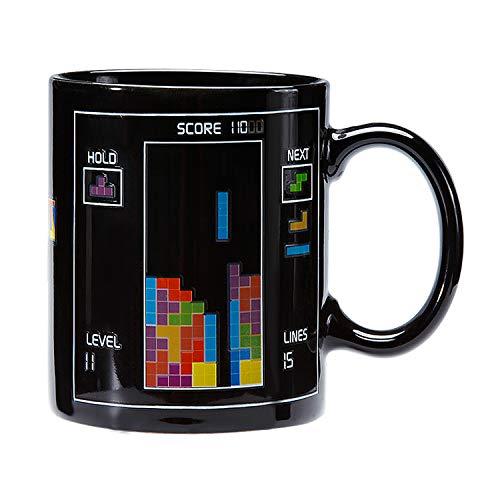 Incutex taza calor taza mágica que cambia de color – tetris