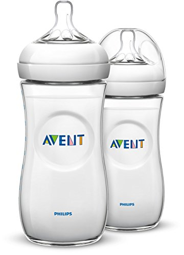 Philips Avent Natural Baby Bottle, Clear, 11oz, 2pk, SCF016/27
