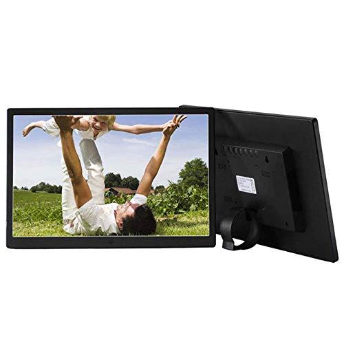 LIUJIE Digitale fotolijst IPS Full HD 12 inch 1280 x 800 Beeldscherm, LED elektronisch album Ultradunne metalen behuizing Reclame Machine TV Micro beeldschermen, Zwart
