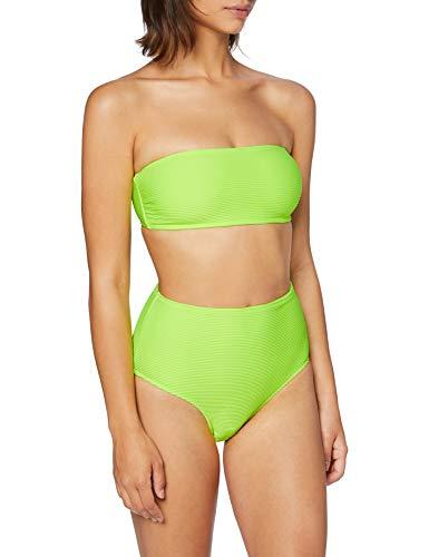 Urban Classics Ladies High Waist Bandeau Bikini Set, Lime Elettrico, M Donna