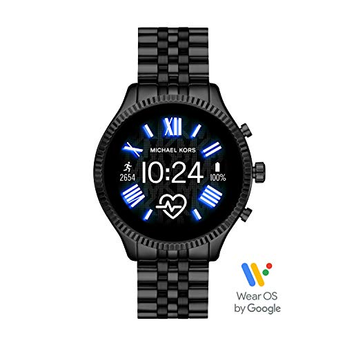 Michael Kors Gen 5 Lexington smartwatch para Mujer con Caja y Correa de Acero Inoxidable Negro MKT5096